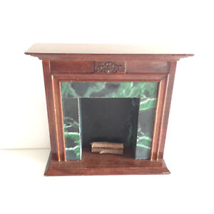 1 12 vintage dollhouse living room furniture green marble fireplace rh ebay com paint green marble fireplace green marble fireplace makeover