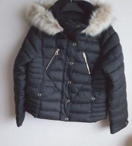 Veste Garniture En Manteau Black Zara Résistant À Résistant Fourrure Taille En L'eau L'eau À Xs Bnwt vUExq
