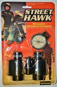 1984 Street Hawk vintage Binoculars Compass set Fleetwood Larami Rack toy moc