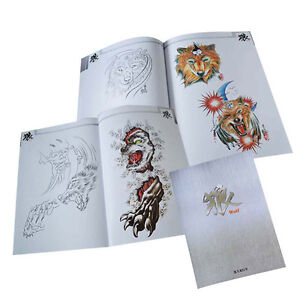 Details About 64 Pages Wolf Collection Tattoo Art Designs Flash Manuscript Sketch Line Book