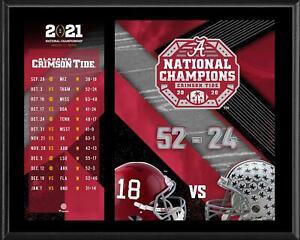 "Alabama Crimson Tide CFP 2020 National Champions 12"" x 15"" Sublimated Plaque"