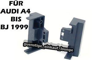 AUDI Radioblende ISO Rahmen A4 bis BJ.1999 B5 Neu Farbe Schwarz