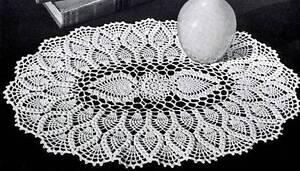 Vintage Crochet Oval Pineapple Doily Pattern Only Ebay
