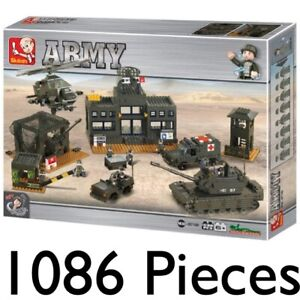 SLUBAN ARMY LAND FORCES SET CONSTRUCTION BUILDING BRICKS TANK VEHICLES 0311