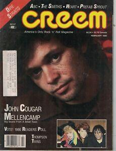 1986 Creem February - John Cougar Mellencamp; Stevie Wonder; Poll results - Best