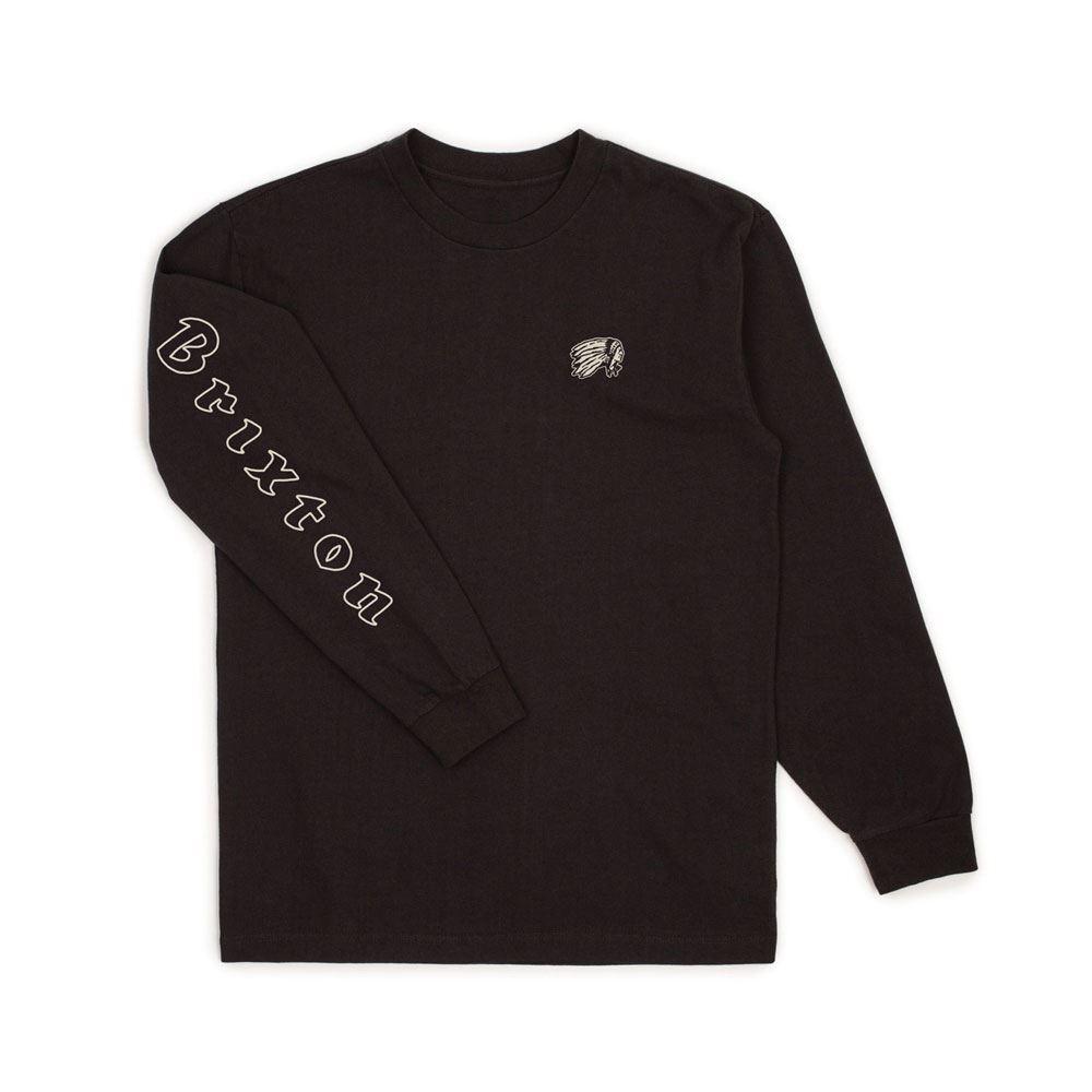 Brixton Primo Long Sleeve T-Shirt Schwarz