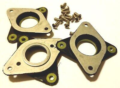 3x Nema 17 Steel /& Rubber Dampers Stepper Motor 3D Printer Damper 12 flat Screw