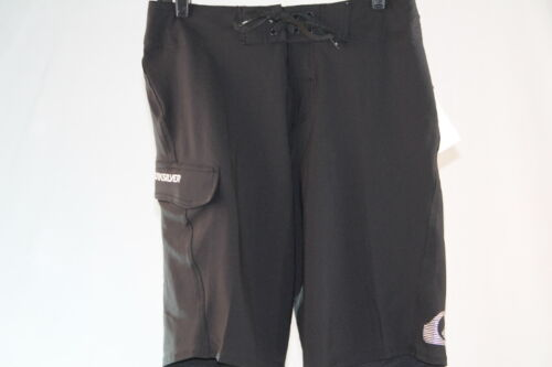 "QUIKSILVER /""KAIMANA ROYALE/"" SWIM//SURF//BOARD SHORTS SOLID BLACK size 29//30"