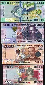 Sierra-Leone-4-Pcs-SET-1000-2000-5000-10000-Leones-2013-2015-UNC-P-30-31-32-33