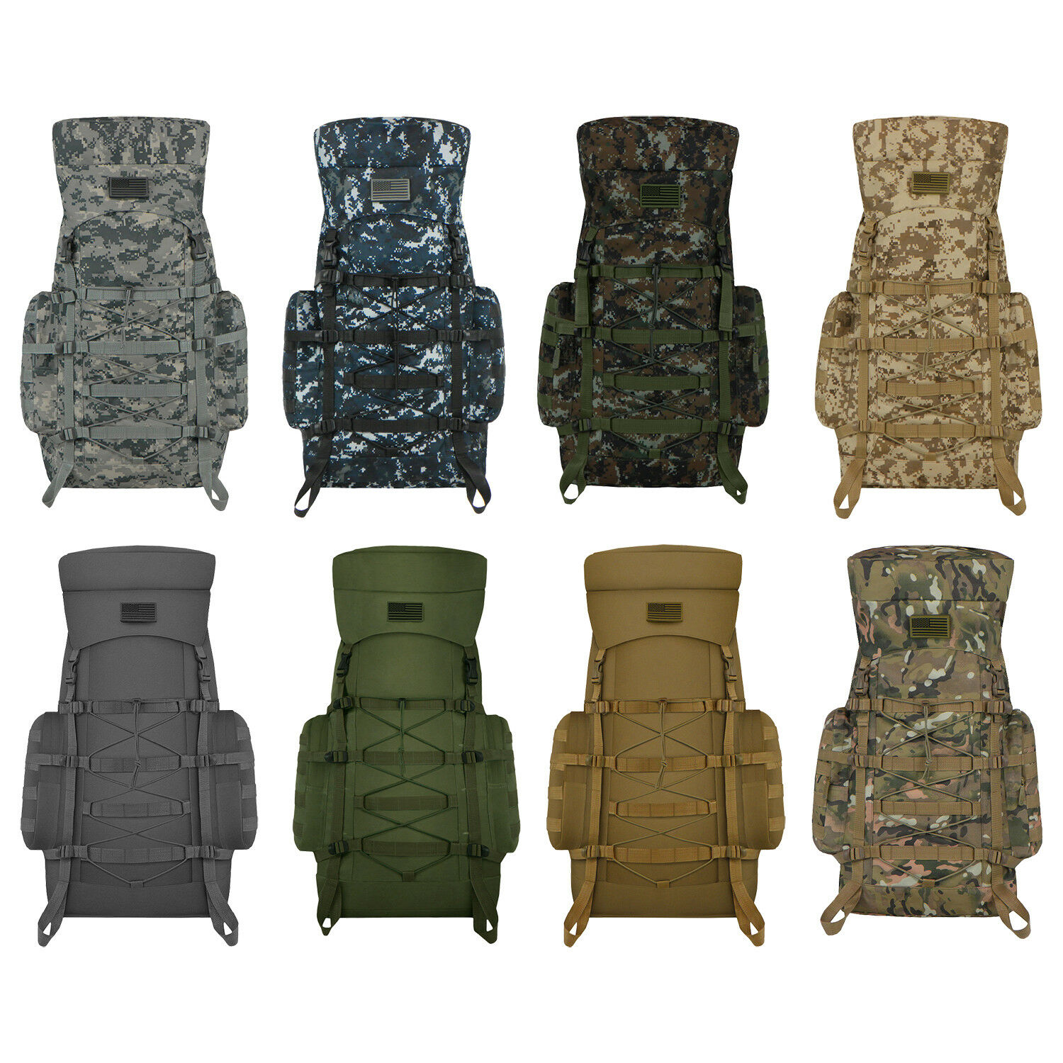 Military Tactical MOLLE Outdoor Bag Weather Resistant Backpack for Hik... - s l1600