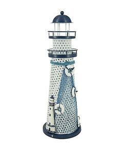 Nautical Ocean Color Changing LED Metal Vintage Lighthouse Home/Desktop Decor