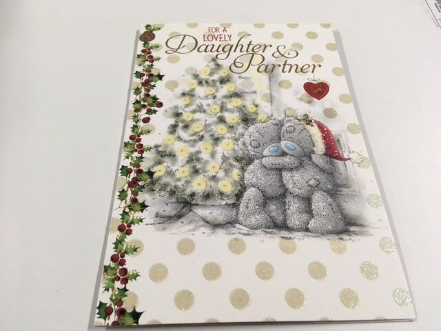 me to you tatty teddy cute couple christmas card daughter and partner ebay