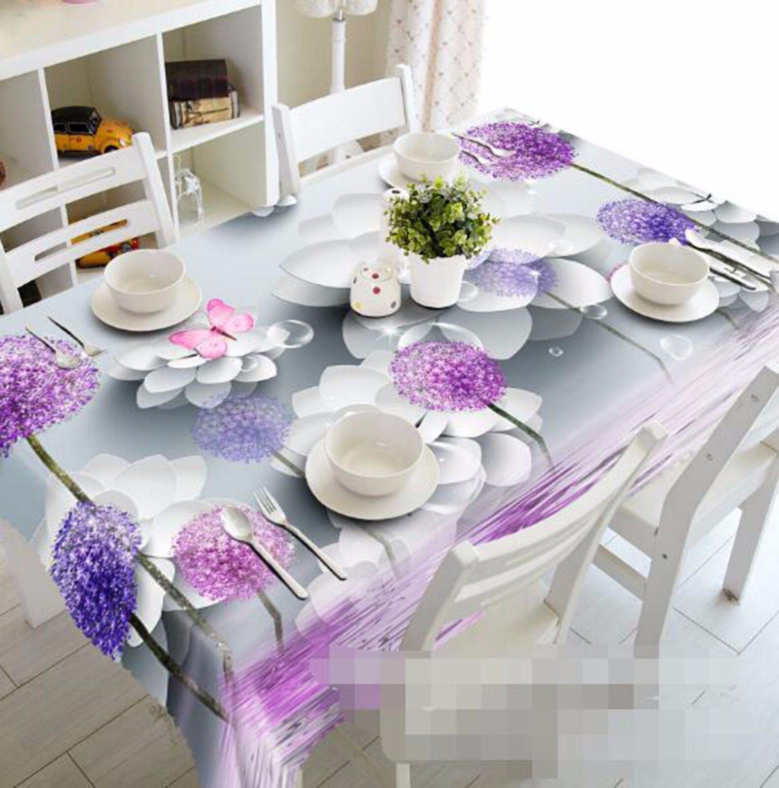 3D pétales 418 Nappe Table Cover Cloth fête d'anniversaire AJ papier peint Royaume-Uni Citron