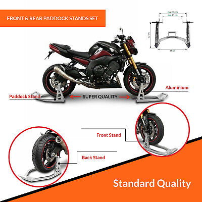 Pair Warrior Alloy Box Front And Rear Stand Technical /'Factory Team/' Design