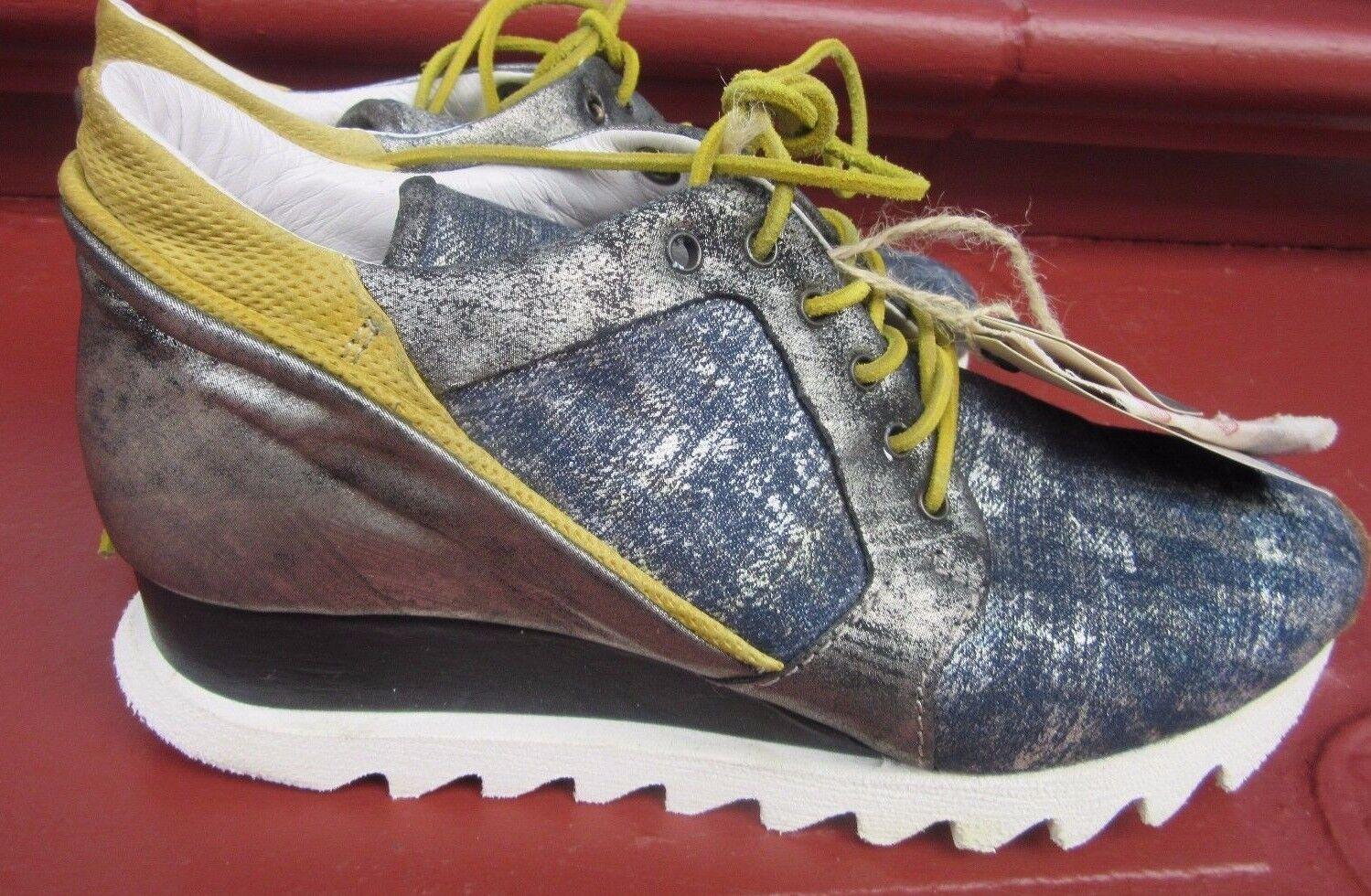 Airstep A.S.98 Schnürer Damen Schuhe blau komb. Gr. 41 NEU