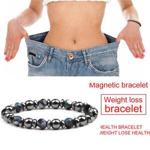 Chakra-Hematite-Stone-Bead-Stretch-Bracelet-Healing-Magnetic-Weight-Loss-TN