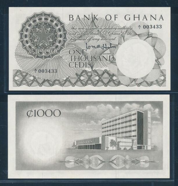 [100295] Ghana ND 1965 1000 Cedis Bank Note UNC P9a