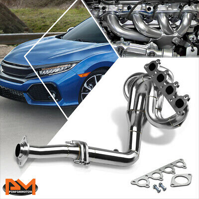 88-00 HONDA CIVIC//CRX//DEL SOL D15//D16 D-SERIES STAINLESS EXHAUST CHROME HEADER
