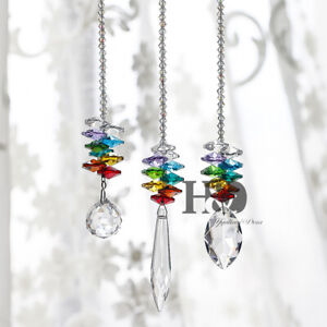 Set-3-Rainbow-Maker-Crystal-Suncatcher-Feng-Shui-Prisms-Pendant-Wedding-Decor