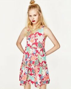 f3d971f313a1 Image is loading Zara-Pink-Tropical-Hawaiian-Print-holiday-cut-out-