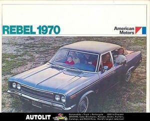 1970 AMC Rebel Brochure French German Spanish 84421-GZMGGY