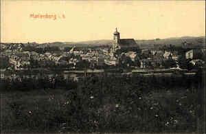 Marienberg in Sachsen alte Ansichtskarte ~1910/20 Blick auf die Stadt ungelaufen