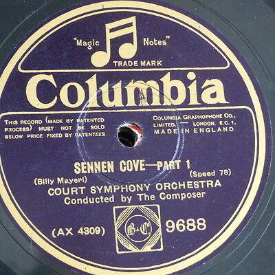 "78rpm 12"" BILLY MAYERL - COURT SYMPHONY sennen cove 1&2"