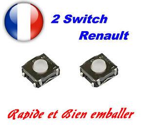 2x switch bouton pour t l commande cl plip renault modus. Black Bedroom Furniture Sets. Home Design Ideas