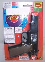 2 Cap Gun 45 Plastic Shooter Play Toy Guns Boy Toys Play Pistol Noise