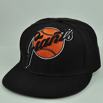 FleißIg Mlb American Needle San Francisco Giants Schwarz Passende 7 1/4 Hut Kappe Baseball & Softball Sport