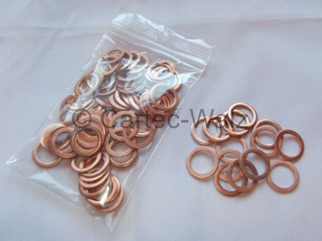 100 Stück Kupferringe Dichtringe 16x22x1,5 mm M 16