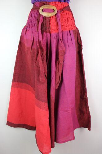 Handmade Skirt Belt Festival Cotton Dress Rave Elastic Bohemian Hippy Harem FT04
