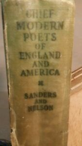 034-Chief-Modern-Poets-Of-England-And-America-034-Sanders-Nelson-1930-Antique-Book