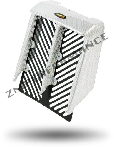 NEW YAMAHA BANSHEE YFZ 350 PLASTIC WHITE CARBON FIBER RADIATOR COVER PLASTICS