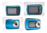 10.0mp Underwater Digital Camera, 3m Waterproof, Blue Two-camera Pack