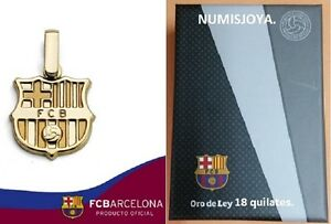 Colgante Oficial Del F. C. Barcelona. Oro De 18 Quilates. Referencia 10-014-l. L6rj7zzh-07231253-745466018