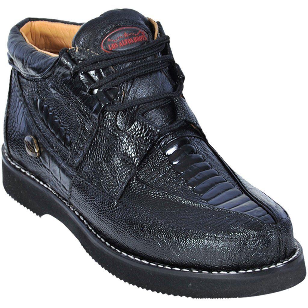 Men's Los Altos Genuine Full Ostrich Leg Lace Up Casual Shoe Exotic Sneaker
