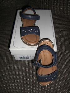 info for 43437 e6dad Details zu NEU Bellybutton Sandalen Leder blau Gr. 26 Mädchen Schuhe  Klettverschluss