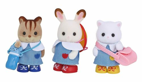 Sylvanian Families Kindergarten Friends Dolls /& Costumes Set VS-04 Epoch Japan