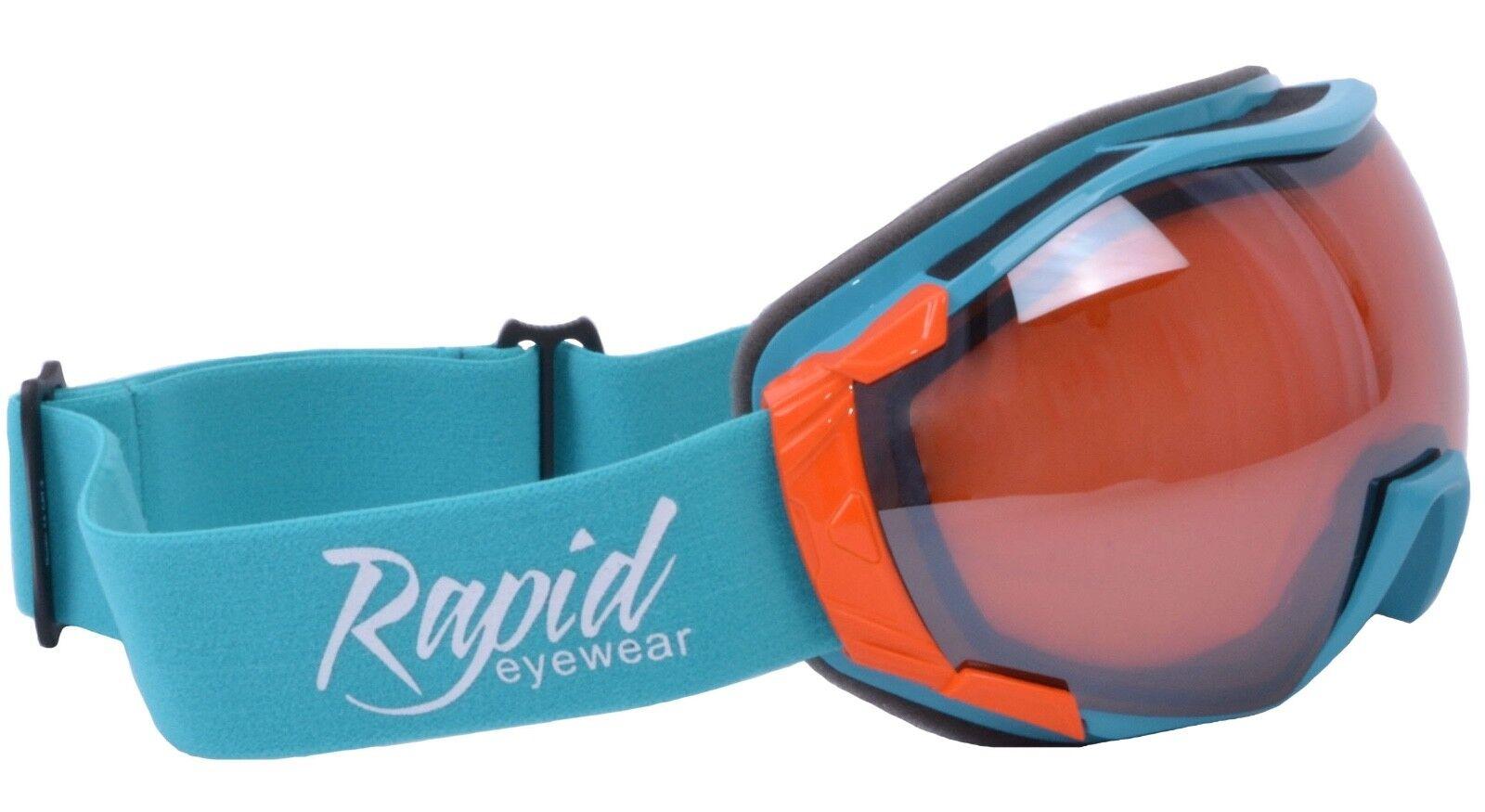SNOW GOGGLES For Skiing & Snowboarding  bluee. PRESCRIPTION OPTIONS. UV Mirror