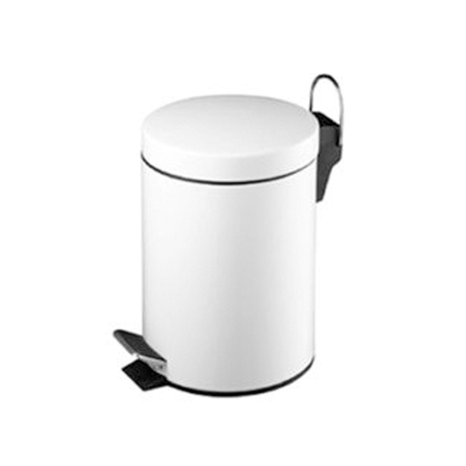 3 litre l pedal bin kitchen bathroom bedroom waste dustbin. Black Bedroom Furniture Sets. Home Design Ideas