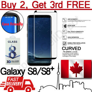For-Samsung-Galaxy-S8-S8-Case-Friendly-Curved-Tempered-Glass-Screen-Protector