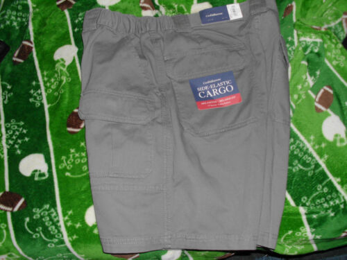 Brown Beige Tan Side Elastic Cargo Shorts Men/'s New 32 Croft /& Barrow Sage