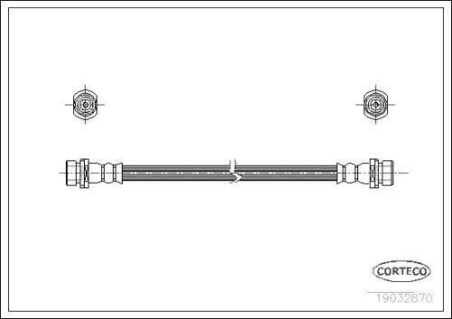 für MazdaSchlauchleitung CortecoBremsschlauch Hinten 19032870