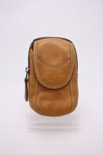 Vtg Tan Cowhide Leather Carrying Case