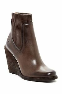 fecedf6adcc6  400+ FRYE Carrie Scrunch Wedge Bootie Boot Leather CHIC SLATE 8.5 ...