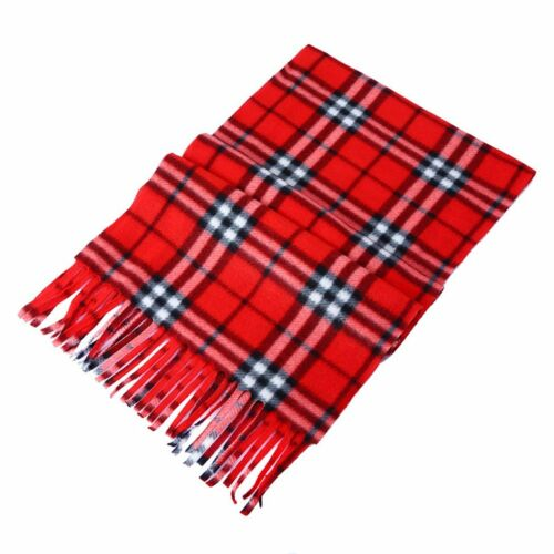 Women Men Winter Warm Scarf Cashmere Long Wrap Shawl Plaid Knit Scarf Warm HU4