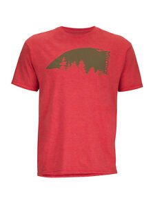 T-shirt uomo Marmot Overhang tee SS-REDH colore Rouge chinè