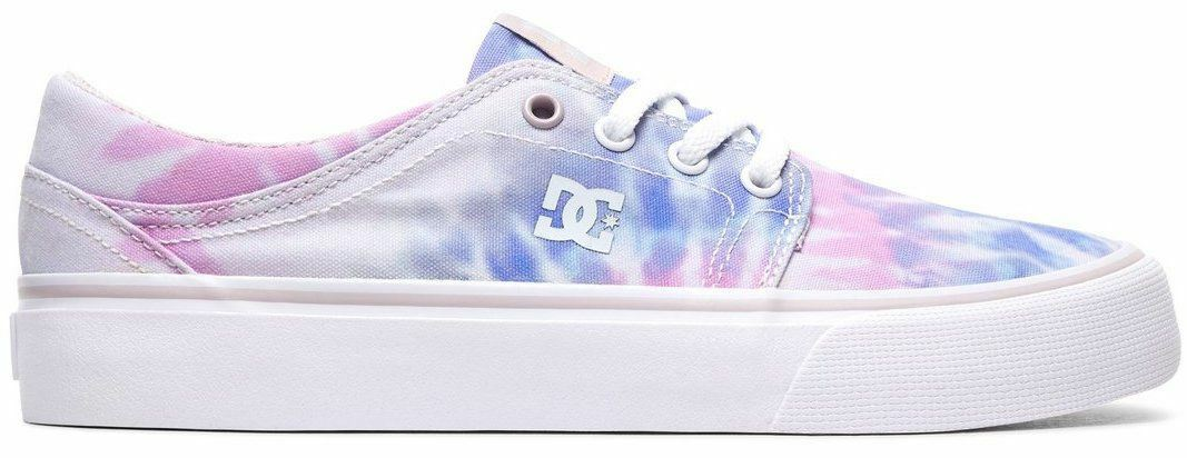 DC Trase TX SE bluee Pink Canvas Womens Trainers shoes