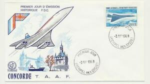 FRENCH-SOUTHERN-amp-ANTARCTIC-TERR-1969-CONCORD-FIRST-DAY-COVER-SCARCE-SEE-BELOW